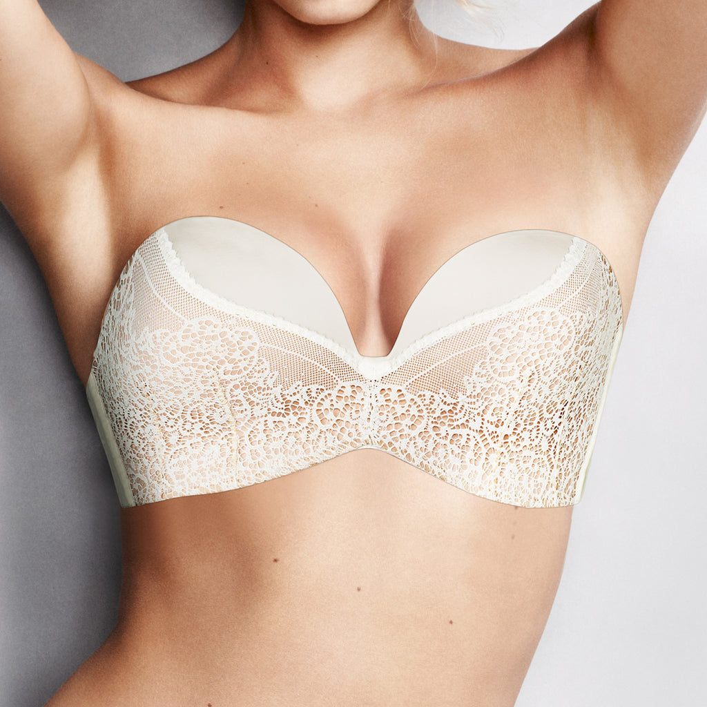 Wonderbra Ultimate Strapless Lace Bra, Ivory