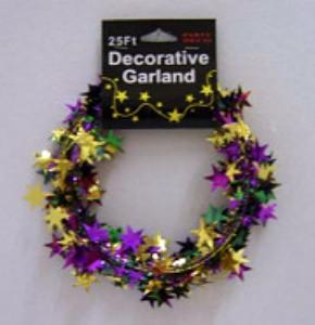 Purple/Green/Gold Star Garland