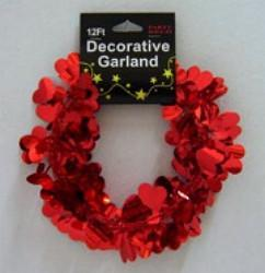 Heart Garland - Red