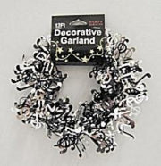 Music Note Garland - Black/Silver