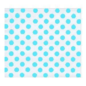 Turquoise Dots Cellophane (20x20)