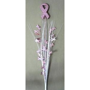 Glitter Top Pink Ribbon Spray