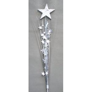 Glitter Top Silver Star Spray