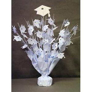 Glitter Top Graduation Weight - White