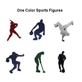 One Color Glittered Sports Figures