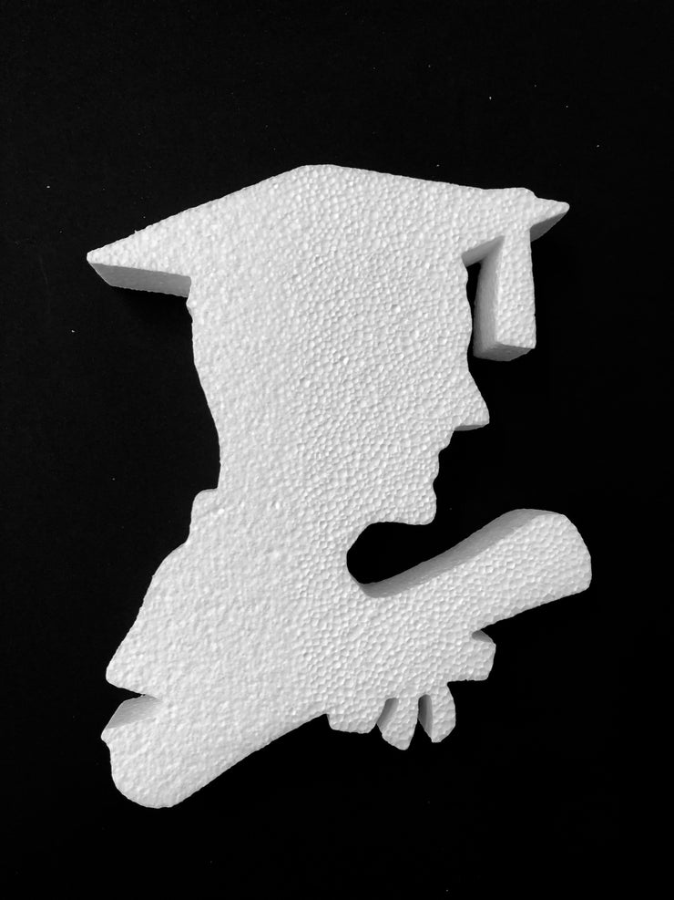 Styrofoam Graduation Guy