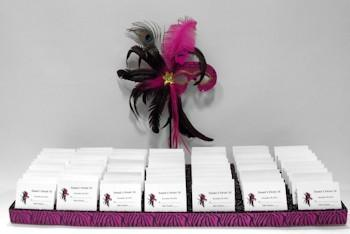 Fabulous Feathers Place Card Board
