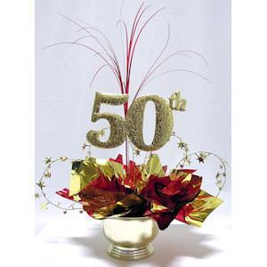50th Milestone Centerpiece
