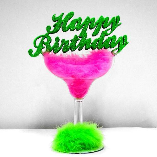 Birthday Fluff Centerpiece in Lime Green / Hot Pink Combo
