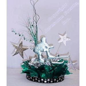 Ski Winning Star Centerpiece