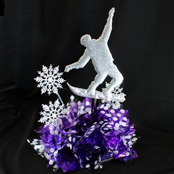 Snowboard Star Centerpiece