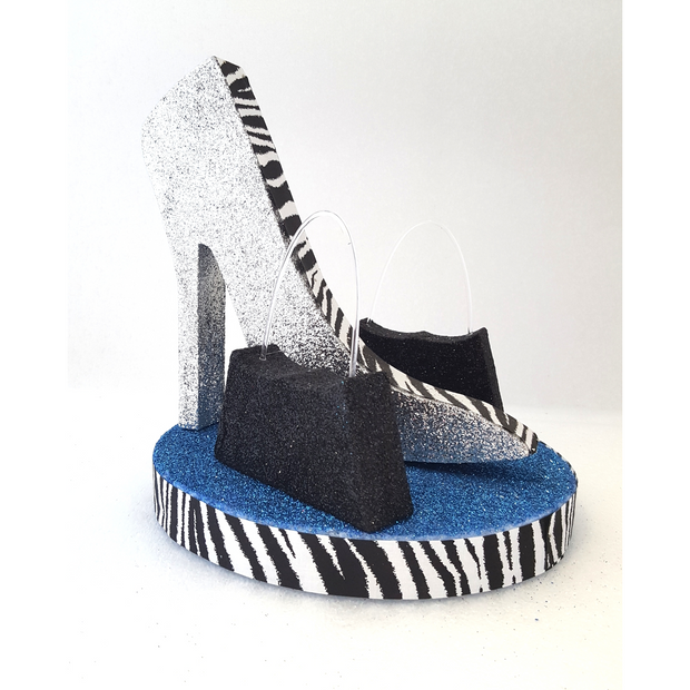 Zebra High Heel Stiletto & Base with Purse