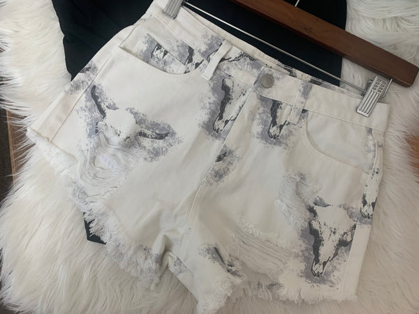 Distressed Steer Shorts