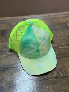 CC Pony Hats - Neon Green Tie Dye
