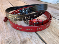 Flat Studded Belts - 2 Colors Available