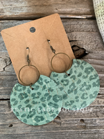 Sage Leopard Dangle Earrings