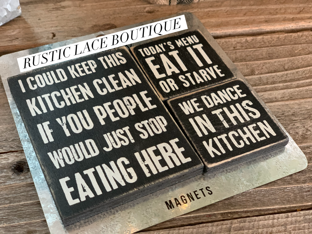 Set of 3 Kitchen Magnets