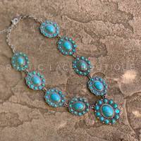Silver & Turquoise Statement necklace