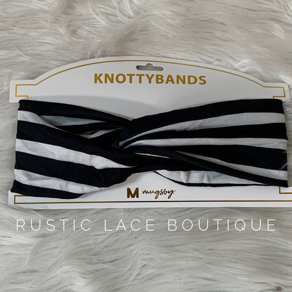 Black & White Striped Headband