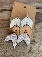 Triple Arrow Stacked Earrings