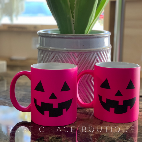 Hot Pink Pumpkin Mug