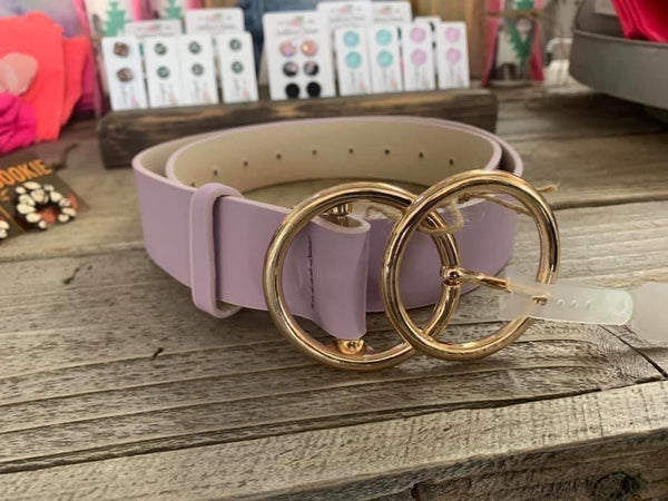 Lavender Double O Belt
