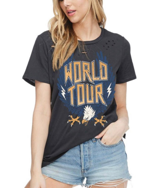 World Tour Distressed Tee