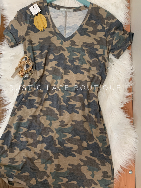 Hidden Secrets Camo Dress