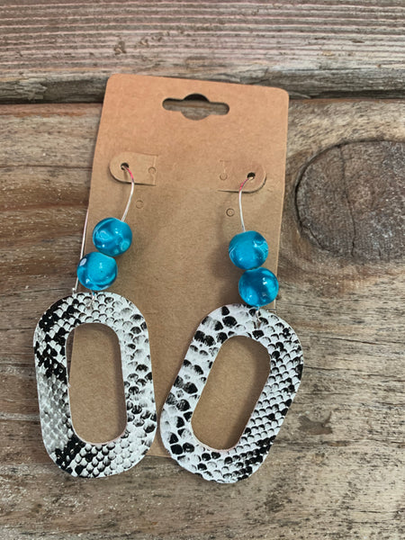 Beaded Python Earrings