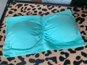 Solid Colored Bandeau/Padded- Mint