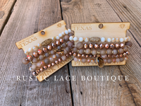 Pink Panache Stacked Bracelet Set