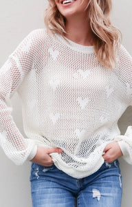 Sweet Hearts Overlay Top