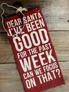 Santa I've Been Good Tea Towel & Cookie Cutter Set