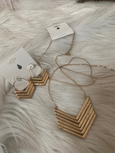 Chevron Necklace OR Earrings