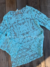 Load image into Gallery viewer, Mint Lace Overlay Top