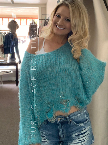 Distressed Sweater Top