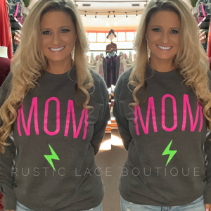 MOM Charcoal Crewneck Sweatshirt