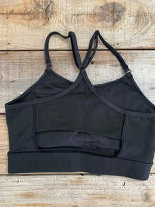 Solid Black Sports Bra