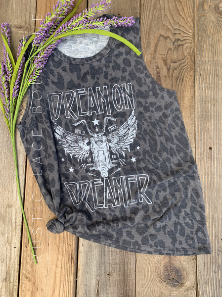 """dream On Dreamer"" Leopard Tank"