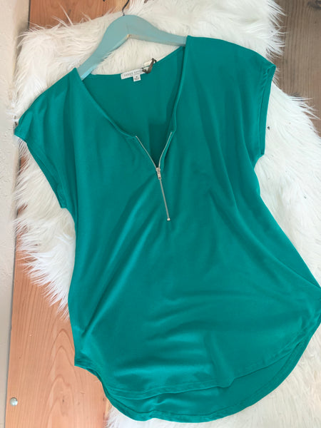 Teal Blouse Top