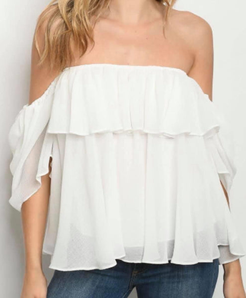 Off-Shoulder Whimsical Top