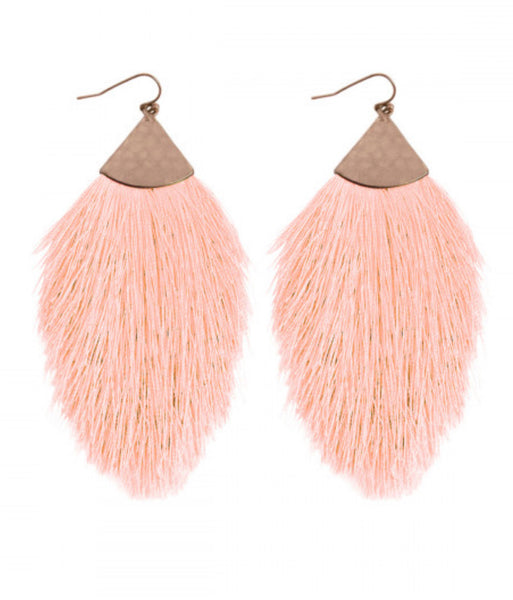 Tassel Earrings - Light Salmon
