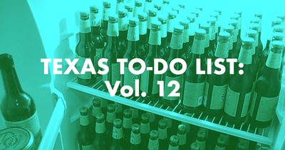 Texas To-Do List: Vol. 12