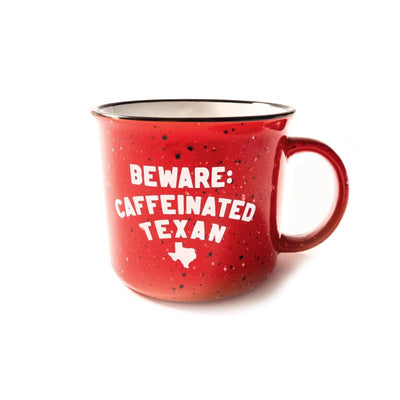 Beware: Caffeinated Texan Camp Mug