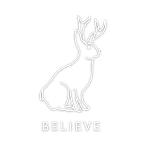 Believe In The Jackalope Decal