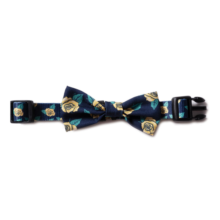 Yellow Rose Dog Bow Tie