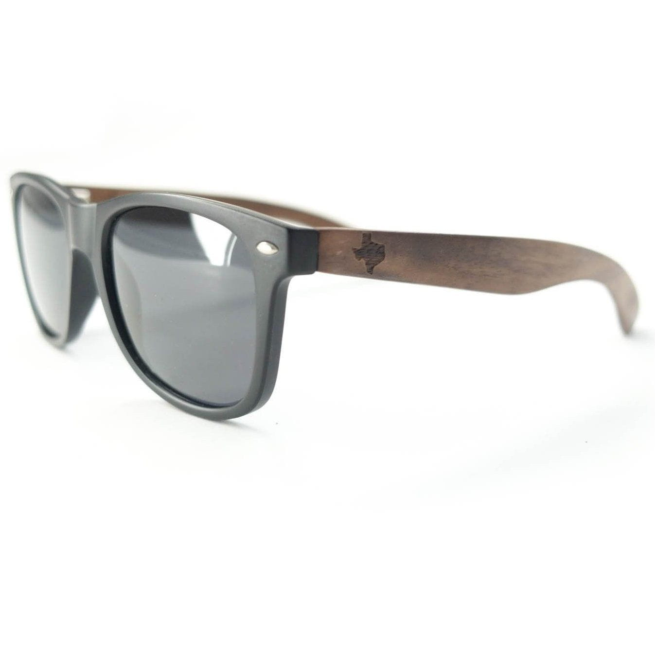 state of texas classic black walnut sunglasses