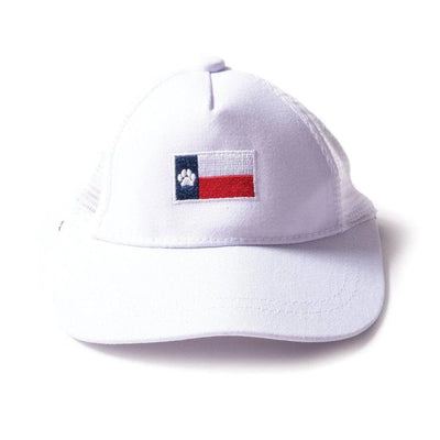 White Texas Dog Hat