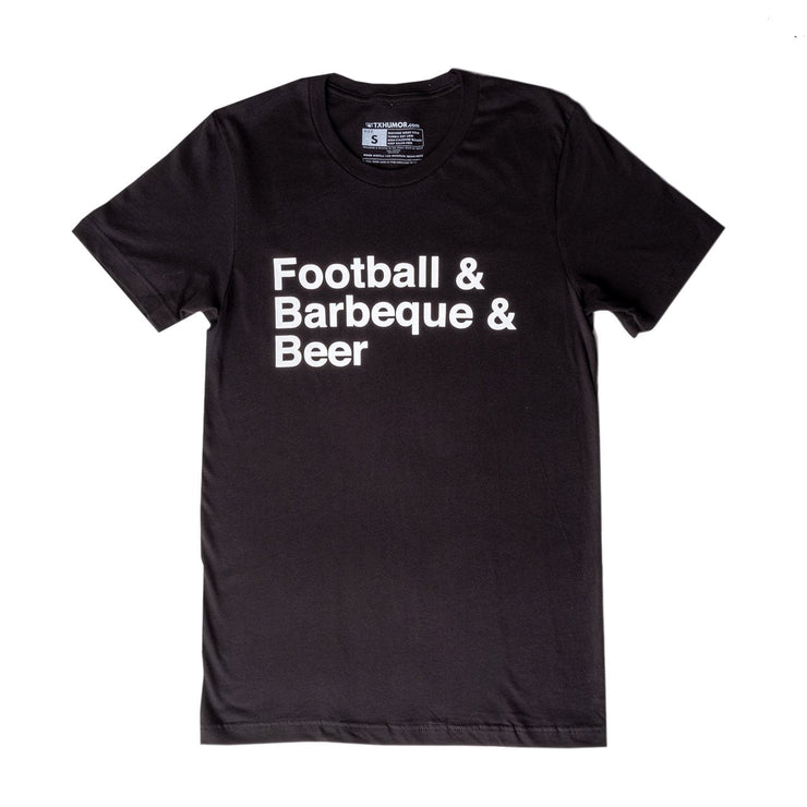 Football & Barbeque & Beer T-Shirt
