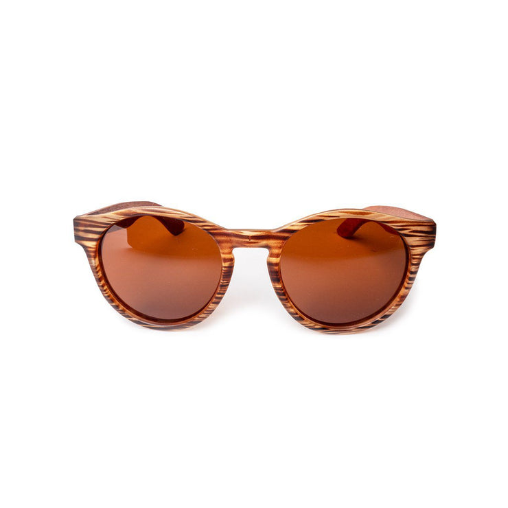 Grand Texas Rosewood Round Sunglasses